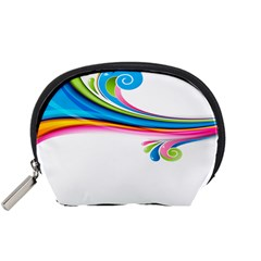 Colored Lines Rainbow Accessory Pouches (small)  by Mariart