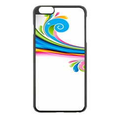 Colored Lines Rainbow Apple Iphone 6 Plus/6s Plus Black Enamel Case by Mariart