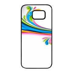 Colored Lines Rainbow Samsung Galaxy S7 Edge Black Seamless Case by Mariart