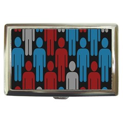 Human Man People Red Blue Grey Black Cigarette Money Cases by Mariart