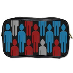 Human Man People Red Blue Grey Black Toiletries Bags 2 Side by Mariart