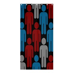 Human Man People Red Blue Grey Black Shower Curtain 36  X 72  (stall)  by Mariart