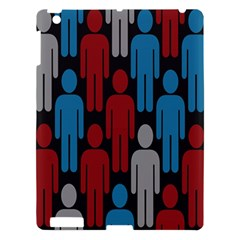 Human Man People Red Blue Grey Black Apple Ipad 3/4 Hardshell Case by Mariart