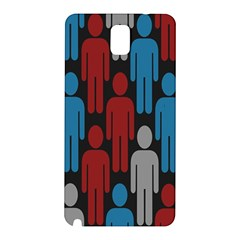 Human Man People Red Blue Grey Black Samsung Galaxy Note 3 N9005 Hardshell Back Case by Mariart