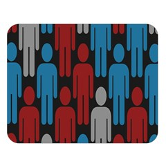 Human Man People Red Blue Grey Black Double Sided Flano Blanket (large)  by Mariart