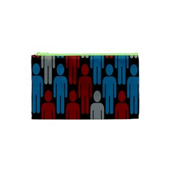 Human Man People Red Blue Grey Black Cosmetic Bag (xs) by Mariart