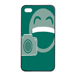 Laughs Funny Photo Contest Smile Face Mask Apple Iphone 4/4s Seamless Case (black) by Mariart