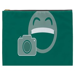 Laughs Funny Photo Contest Smile Face Mask Cosmetic Bag (xxxl)  by Mariart