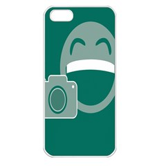 Laughs Funny Photo Contest Smile Face Mask Apple Iphone 5 Seamless Case (white) by Mariart