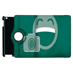 Laughs Funny Photo Contest Smile Face Mask Apple Ipad 3/4 Flip 360 Case by Mariart