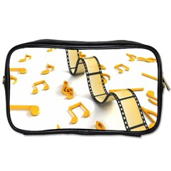Isolated Three Dimensional Negative Roll Musical Notes Movie Toiletries Bags