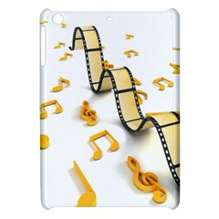 Isolated Three Dimensional Negative Roll Musical Notes Movie Apple Ipad Mini Hardshell Case by Mariart