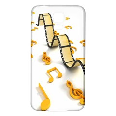 Isolated Three Dimensional Negative Roll Musical Notes Movie Samsung Galaxy S5 Back Case (white) by Mariart