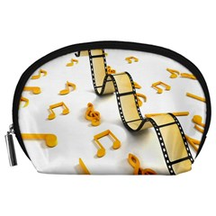 Isolated Three Dimensional Negative Roll Musical Notes Movie Accessory Pouches (large)  by Mariart