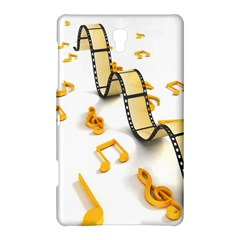 Isolated Three Dimensional Negative Roll Musical Notes Movie Samsung Galaxy Tab S (8 4 ) Hardshell Case  by Mariart