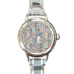 Deco Heritage Mix Round Italian Charm Watch by Mariart