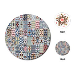 Deco Heritage Mix Playing Cards (round)  by Mariart