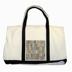 Deco Heritage Mix Two Tone Tote Bag by Mariart
