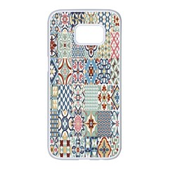 Deco Heritage Mix Samsung Galaxy S7 Edge White Seamless Case by Mariart