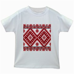 Fabric Aztec Kids White T Shirts by Mariart