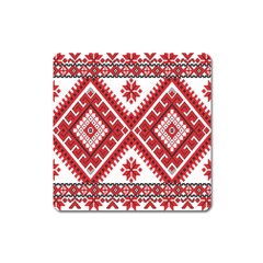 Fabric Aztec Square Magnet by Mariart