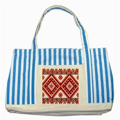 Fabric Aztec Striped Blue Tote Bag by Mariart
