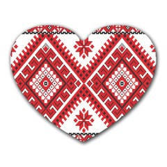 Fabric Aztec Heart Mousepads by Mariart