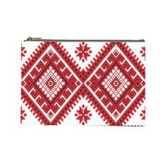Fabric Aztec Cosmetic Bag (large)  by Mariart