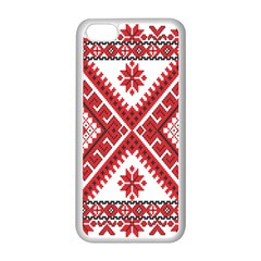Fabric Aztec Apple Iphone 5c Seamless Case (white) by Mariart