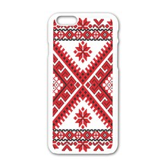 Fabric Aztec Apple Iphone 6/6s White Enamel Case by Mariart