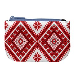 Fabric Aztec Large Coin Purse by Mariart