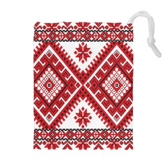 Fabric Aztec Drawstring Pouches (extra Large) by Mariart
