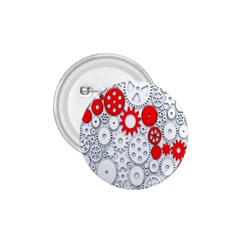Iron Chain White Red 1 75  Buttons by Mariart