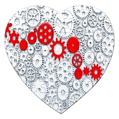 Iron Chain White Red Jigsaw Puzzle (heart) by Mariart