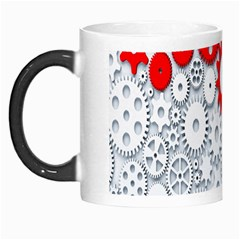 Iron Chain White Red Morph Mugs by Mariart
