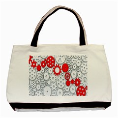 Iron Chain White Red Basic Tote Bag by Mariart