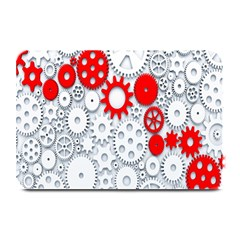 Iron Chain White Red Plate Mats by Mariart