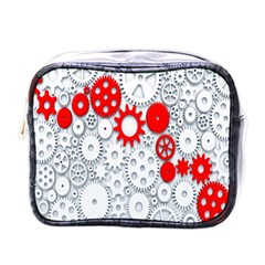 Iron Chain White Red Mini Toiletries Bags by Mariart