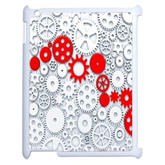 Iron Chain White Red Apple Ipad 2 Case (white) by Mariart