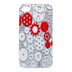 Iron Chain White Red Apple Iphone 4/4s Premium Hardshell Case by Mariart
