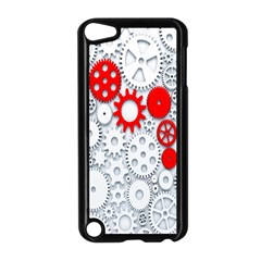 Iron Chain White Red Apple Ipod Touch 5 Case (black) by Mariart