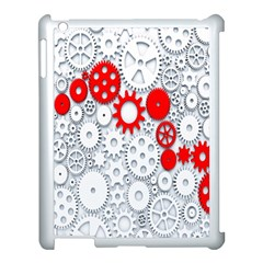 Iron Chain White Red Apple Ipad 3/4 Case (white) by Mariart