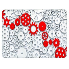 Iron Chain White Red Samsung Galaxy Tab 7  P1000 Flip Case by Mariart
