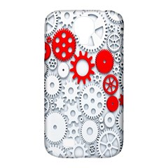 Iron Chain White Red Samsung Galaxy S4 Classic Hardshell Case (pc+silicone) by Mariart