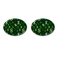 Money Us Dollar Green Cufflinks (oval) by Mariart