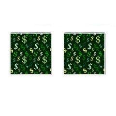 Money Us Dollar Green Cufflinks (square) by Mariart