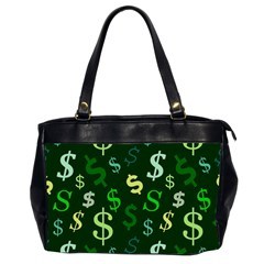 Money Us Dollar Green Office Handbags (2 Sides)  by Mariart