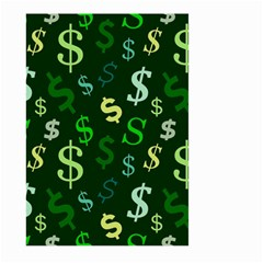 Money Us Dollar Green Large Garden Flag (two Sides) by Mariart