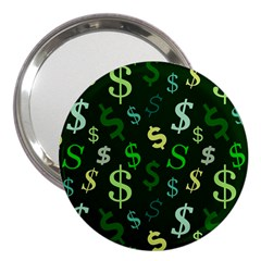 Money Us Dollar Green 3  Handbag Mirrors by Mariart