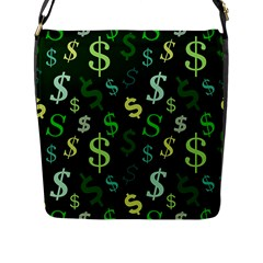 Money Us Dollar Green Flap Messenger Bag (l)  by Mariart